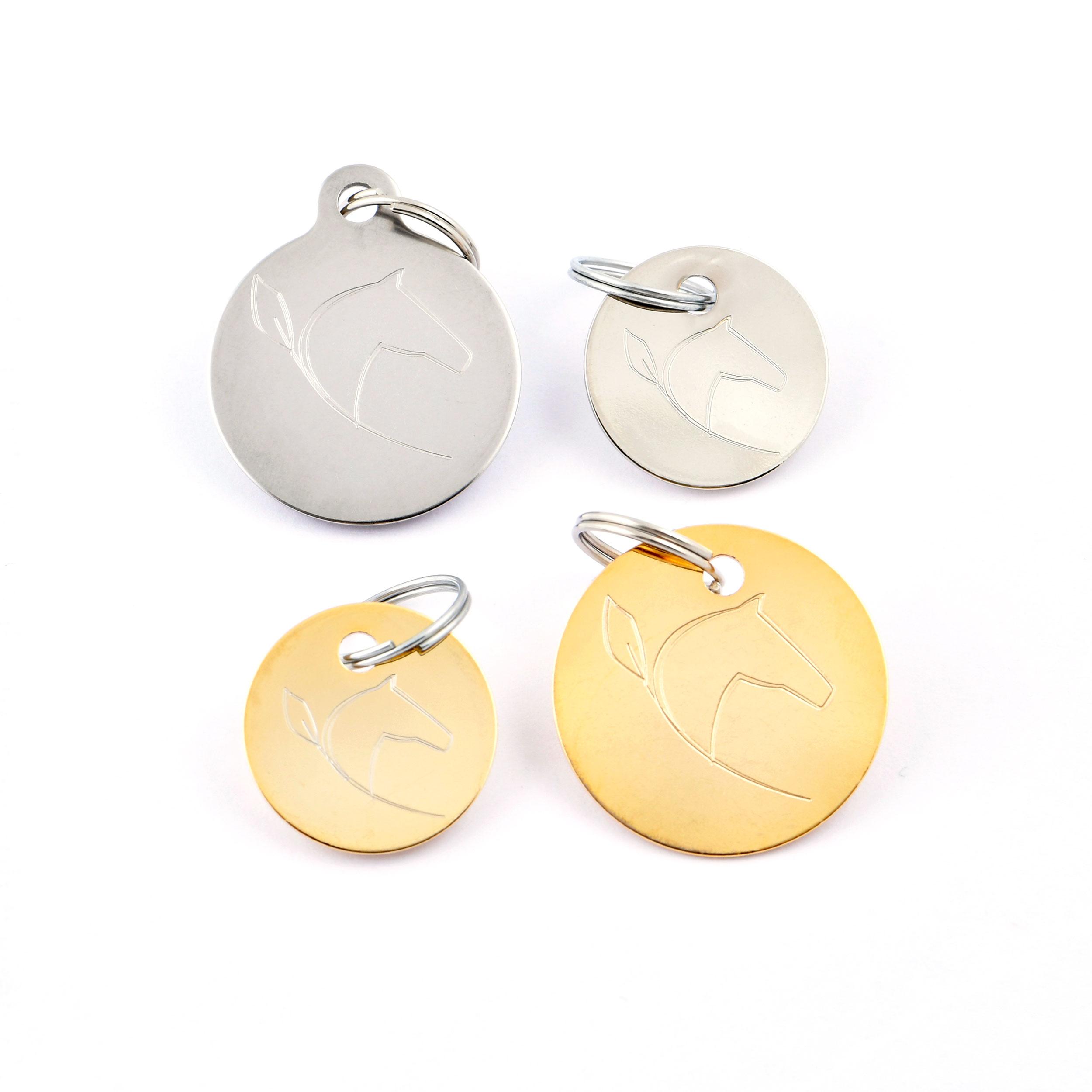 Médailles cheval - Or & Argent
